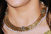 Madhuri Dixit-Nene Gold Collar Necklace