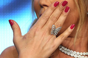 Mariah Carey Red Nail Polish