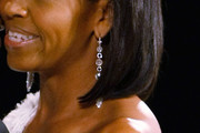 Michelle Obama Sterling Dangle Earrings