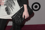 Michelle Trachtenberg Leather Clutch