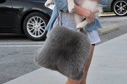 Miley Cyrus Fur Messenger Bag