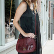 Mischa Barton Leather Shoulder Bag