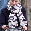 Naomi Watts Patterned Scarf