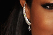 Naomie Harris Dangling Diamond Earrings
