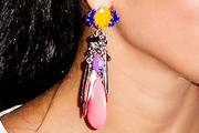 Nicole Scherzinger Feathered Earring