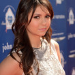 Nina Dobrev Hair - Long Curls with Bangs
