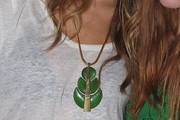 Olivia Wilde Leaf Pendant Necklace