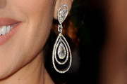 Penelope Cruz Dangling Diamond Earrings
