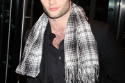 Penn Badgley Knit Scarf