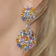 Penny Lancaster Dangling Gemstone Earrings