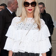 Poppy Delevingne Clothes - Ruffle Blouse