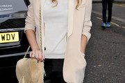 Poppy Delevingne Suede Shoulder Bag