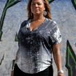 Queen Latifah Clothes - Print Blouse
