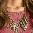 Rachel Bilson Gold Statement Necklace