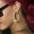 Rihanna Jewelry - Gold Hoops