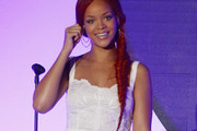 Rihanna Commands the Stage in a Long Braided Fishtail