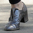 Rose McGowan Leather Slip On Shoes