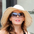 Rose McGowan Straw Hat