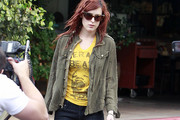 Rumer Willis Military Jacket