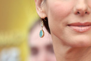 Sandra Bullock Dangling Gemstone Earrings