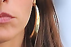 Sofia Vergara Gold Hoops