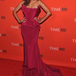 Tyra Banks Clothes - Strapless Dress
