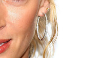 Uma Thurman Diamond Hoops
