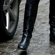 Uma Thurman Shoes - Flat Boots