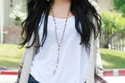 Vanessa Hudgens Wooden Beaded Necklace