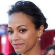 Zoe Saldana Hair - Loose Bun