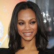 Zoe Saldana Hair - Medium Straight Cut