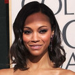 Zoe Saldana Hair - Medium Wavy Cut