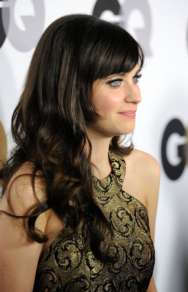 Zooey Deschanel Long Wavy Cut with Bangs miQxXS abegx jpgZooey Deschanel Bangs Cut