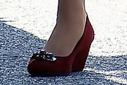Zooey Deschanel Wedges