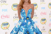 Bella Thorne Strapless Dress