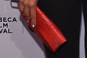 Hannah Bronfman Leather Clutch