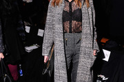Katie Cassidy Tweed Coat