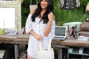 Shay Mitchell Off-the-Shoulder Dress