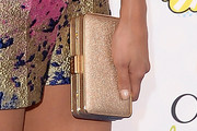Nina Dobrev Metallic Clutch
