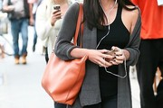 Olivia Munn Leather Shoulder Bag