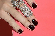 AnnaLynne McCord Dark Nail Polish
