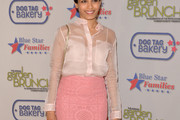 Freida Pinto Button Down Shirt