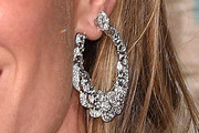 Gisele Bundchen Diamond Hoops