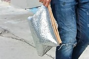 Gwen Stefani Metallic Clutch