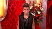 Justin Bieber was all about the leather on 'DWTS' in a studded hoodie vest and matching tank.