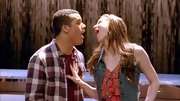 A cool denim vest added some old-school fun to Melissa Benoist's look on 'Glee.'