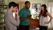 A teal polo was modern and casual on Lamorne Morris on 'New Girl.'