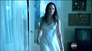 Madeleine Stowe looked like an apparition in a silky white nightgown.