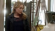 Piper Perabo softened her leather jacket with a romantic lace top.