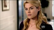 Rachael Taylor's delicate pearl necklace added just a tough of sweetness to her on-screen style.